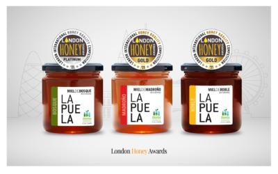 Nuestras mieles triunfan en los London Honey Awards 2021